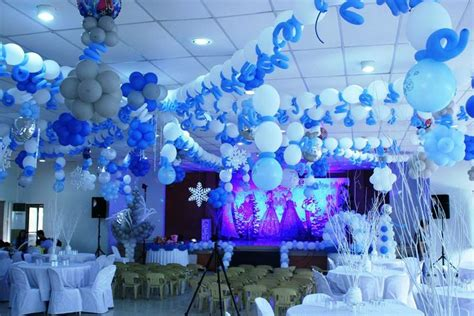 frozen themed party venue birthday party setup party themed birthday venue
