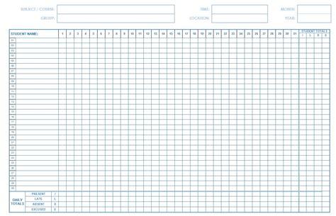 38 free printable attendance sheet templates student attendance template printable 5 attendance