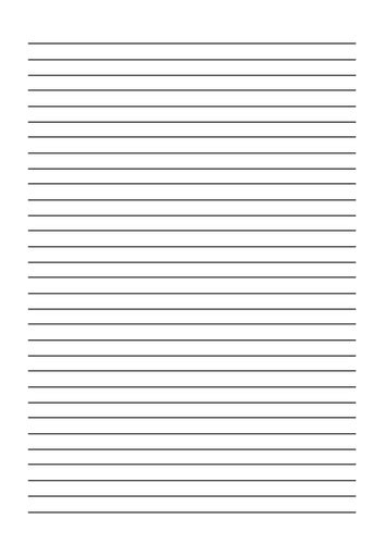 printable lined paper front and back line guides handwriting and presentation aid by