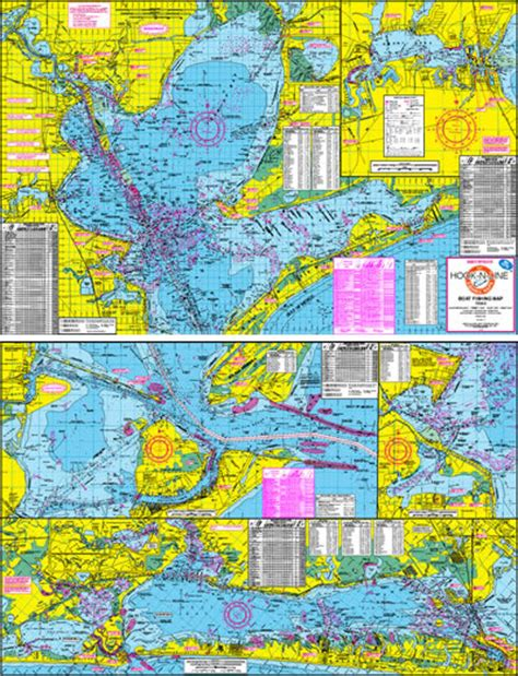 fishing maps texas boat fishing map of the galveston bay area
