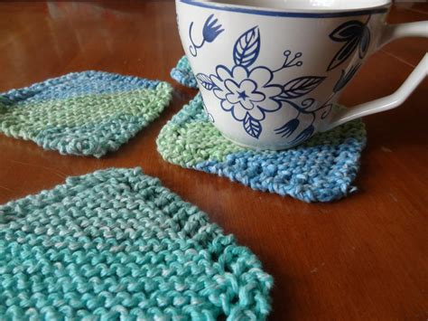 knitted coasters free patterns simple knit coasters by beth shib2390740 knitting pattern