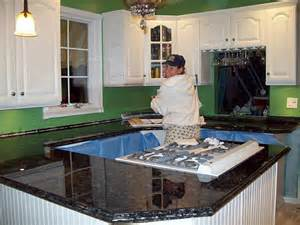 Paint glitter epoxy to redo formica countertops to look like granite