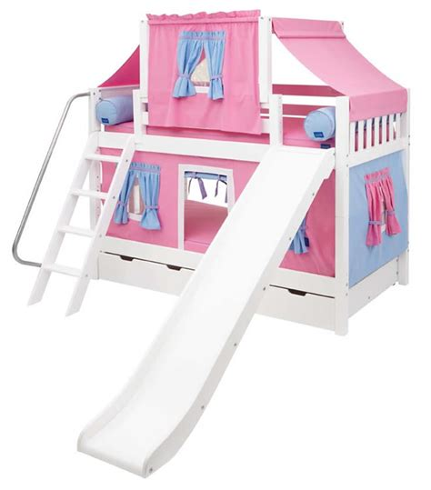 Bunk Bed Tent Only Maxtrix Playhouse Tent Bunk Bed W Slide Pink Blue On White 720 2s