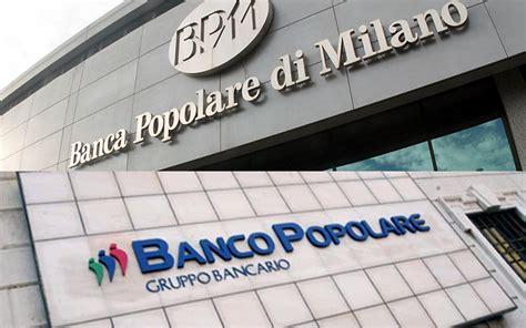 banco popolarr fusione banco popolare bpm titoli in verde fiducia verso