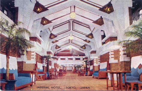 Frank Lloyd Wright Foundation Imperial Hotel 1923 1968 Old Tokyo