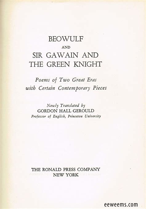 Sir Gawain And The Green Essay Topics by Compare Contrast Essay Beowulf Sir Gawain Writefiction581 Web Fc2