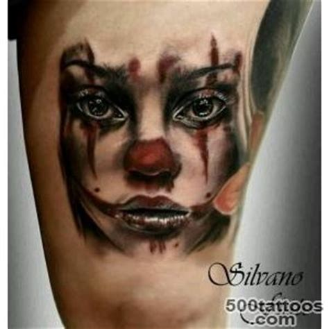 small clown tattoos clown designs ideas meanings images