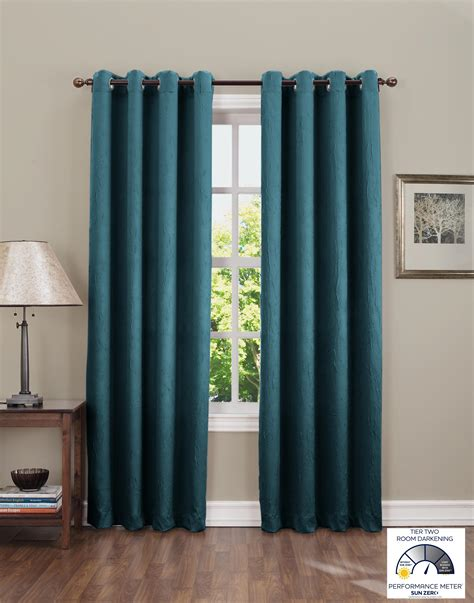 dark teal curtains com sun zero leighton crushed energy efficient