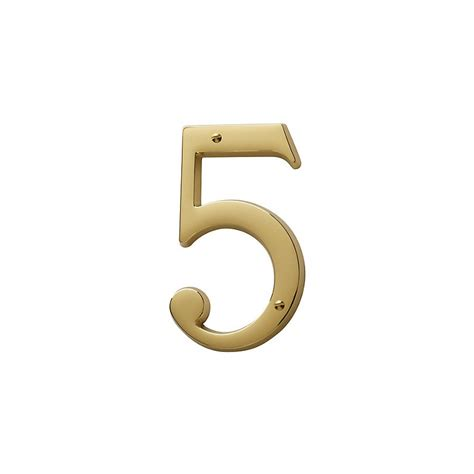 brass house non lacquered brass house number 5 knobs n knockers
