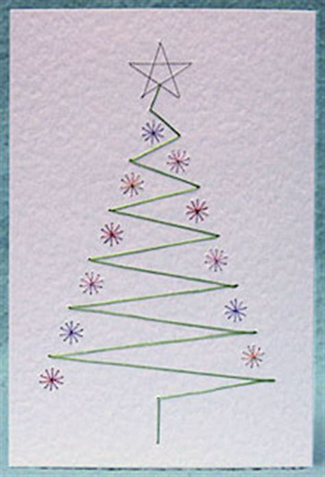 tree card stitch template how form a lines stitching cards are made tutorials