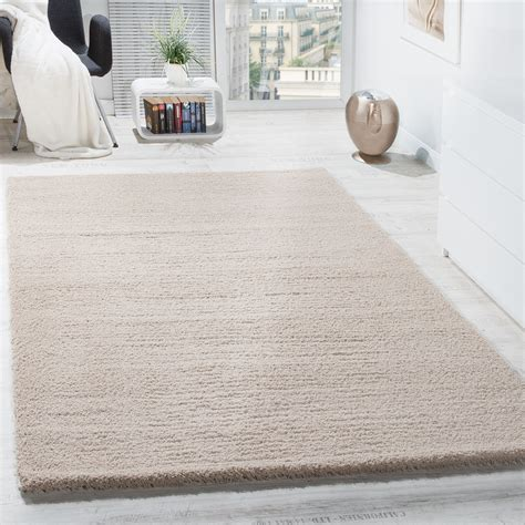 teppich grau beige shaggy carpet micro polyester living room high