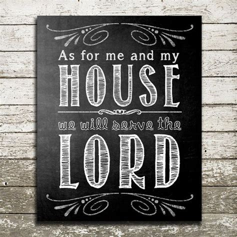 as for me and my house bible verse wall art as for me and my house we by thepurplepear 15 00 chalkboard