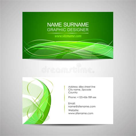 template for business cards on cardstock business card template or visiting card stock vector