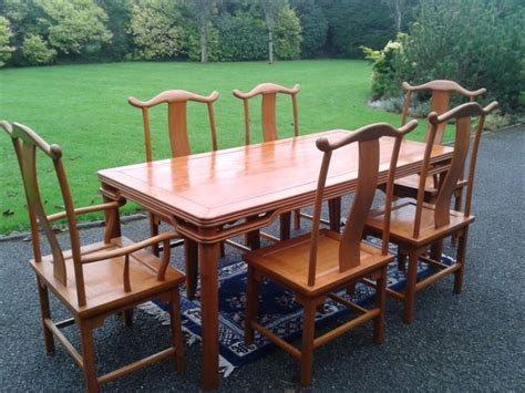 unique custom made dining table and chairs for sale in
