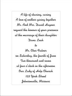 Ways Word Wedding Invitations by Informal Wedding Invitation Wording Casual And Modern