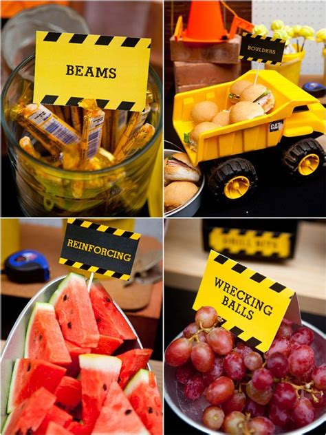 themed food best 10 construction foods ideas on
