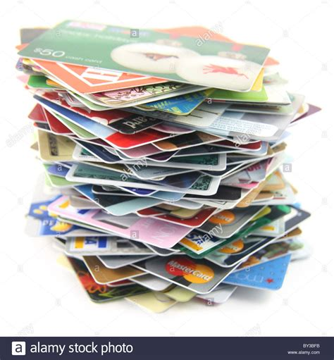Which Banks Sell Visa Gift Cards - tottering pile of credit and gift cards stock photo royalty free image 33880991 alamy