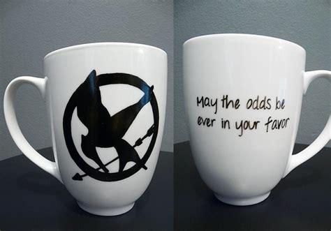 mug design game hunger games mockingjay symbol hand painted ceramic mug
