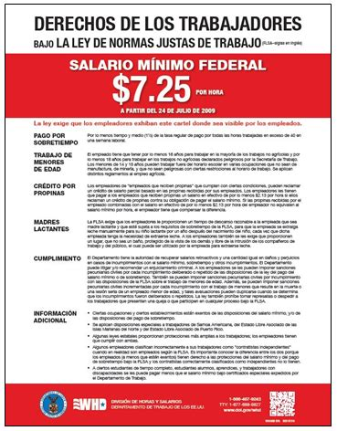 ley de normas justas de trabajo united states department u s department of labor wage and hour division whd