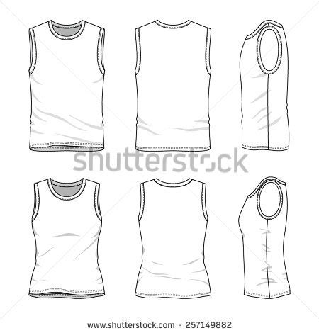 vest top template stock images similar to id 105942239 white singlet