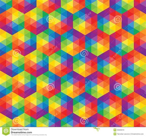 pattern using different shapes vector colorful pattern of geometric shapes royalty free
