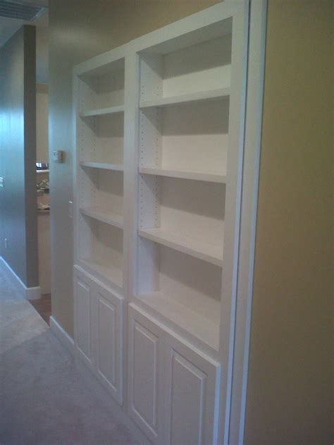 Hallway Closet Doors Mauk Cabinets Designed This Bookcase To Replace Bi Folding Doors To A Water Heater