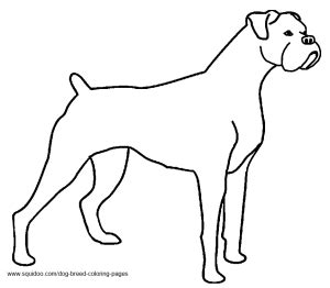 coloring pages of boxer dogs dog breed coloring pages hubpages