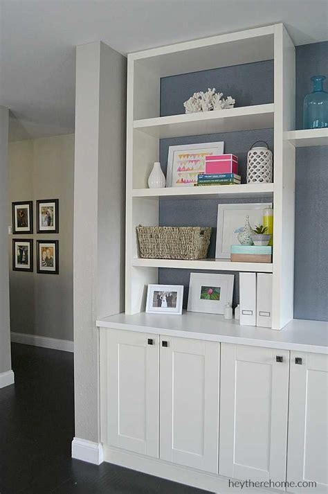 Diy Built In Ikea Cabinets And Shelves