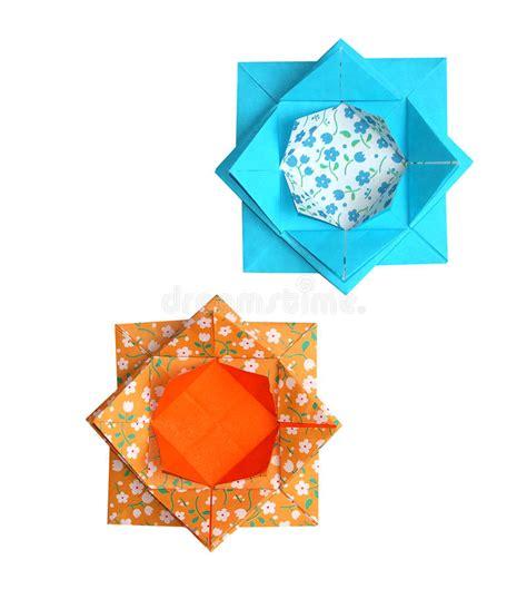 origami fiori di loto fiori di loto geometrici di origami immagini stock