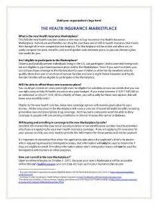 health insurance marketplace one pager template resources