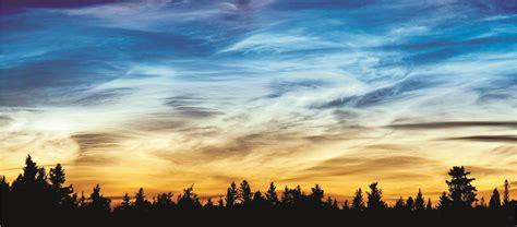 imagenes extrañas en las nubes inicia la temporada de nubes noctilucentes en el