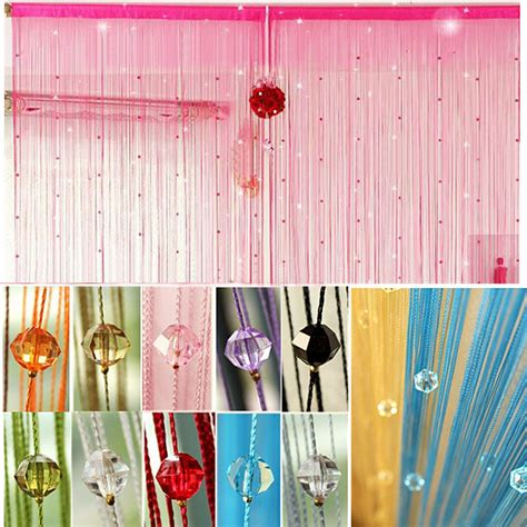 Imitated Crystals Beads String Curtain Window Diy Wall Curtain Wall Decor