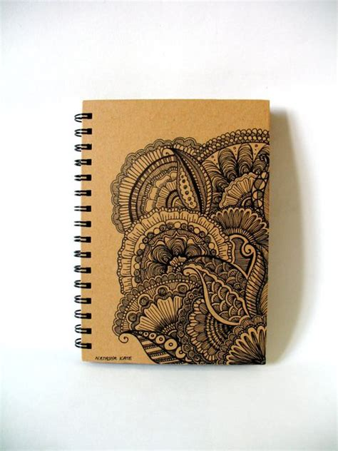 henna design notebook journal sketchbook notebook hand illustrated doodle ink