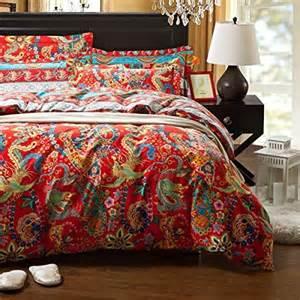 Red King Size Duvet Set 10 Gorgeous Bohemian Style Bedding Sets