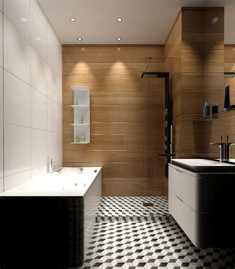 wooden bathroom 5 ideas for a one bedroom apartment with study includes floor plans