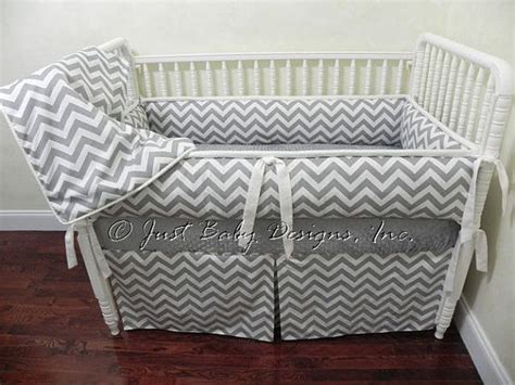gray chevron baby bedding custom baby bedding set kenzie gray chevron