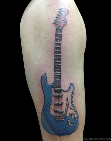 guitar design tattoo 50 bets guitar tattoos