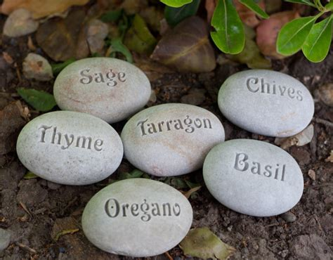 Engraved Rocks For Garden Garden Markers Plant Marker Herb Marker Or Custom