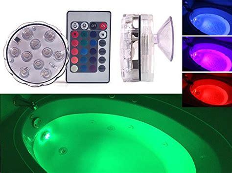 GlowTub Underwater Remote Controlled LED Color Changing