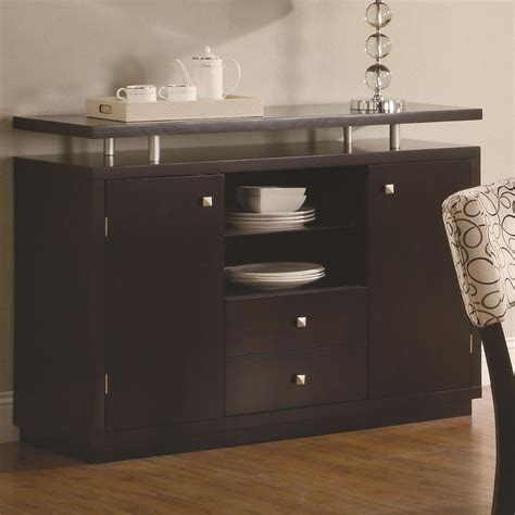 libby door dining server buffet with floating top