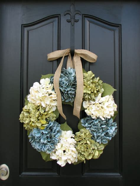 shabby chic decor wreaths hydrangea wreath by twoinspireyou