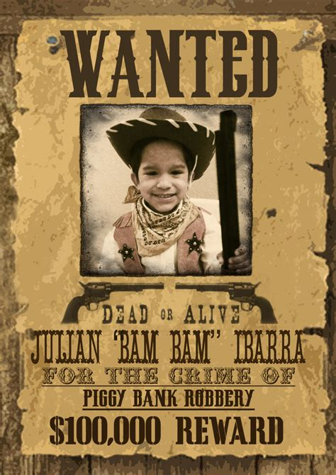 free printable wanted poster old west wild west wanted poster printable