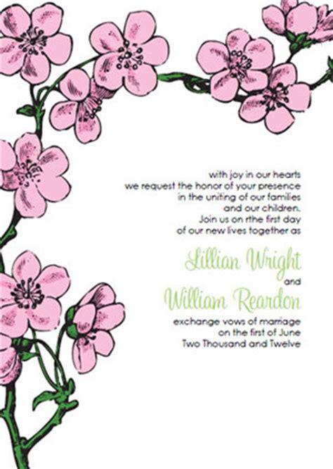 Cherry Blossom Wedding Invitations Kits Cherry Blossom Invitation Template