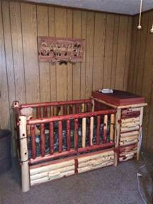 Cedar Log Baby Crib Just For Gigi S Special Boy Custom Cedar Baby Crib With Changing Table And Converts To Toddler