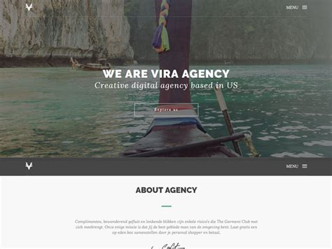 Free One Page Startup Agency Template Download Vira Startup Website Template