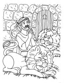Praying Three Times A Day In Daniel And The Lions Den Coloring Page sketch template