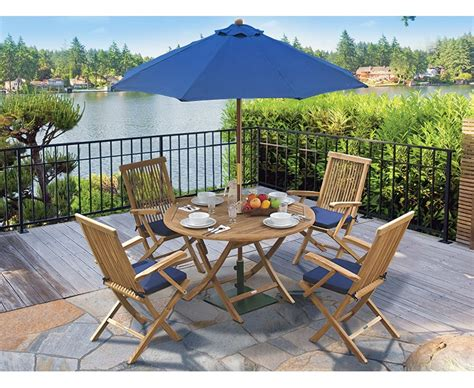 Folding Patio Furniture Dining Sets Ashdown Folding Garden Table And Arm Chairs Set