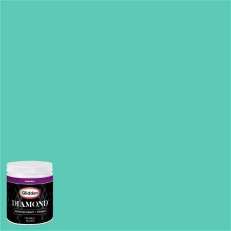 glidden 8 oz hdgb02 thai teal eggshell interior paint with primer tester hdgb02d 08en