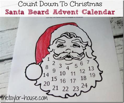printable advent calendar santa count down to christmas santa beard advent calendar the