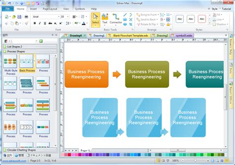 Business Process Reengineering Diagram Software Business Process Reengineering Template